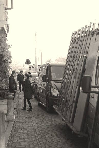 Foto Wachten bij bandbus